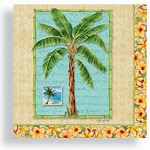 Palm Tree & Hibiscus Beverage Napkins
