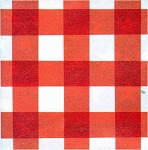 Red Gingham Luncheon Napkins