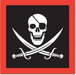 Skull & Crossed Swords Beverage Napkins (16)