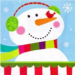Joyful Snowman Beverage Napkins **CLEARANCE**