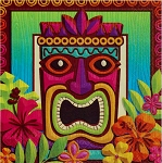 Tropical Tiki Beverage Napkins - Party Pack (125)