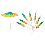 Pineapple Parasol Picks aka Drink Umbrellas (24)