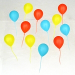Reusable Plastic Balloon Party Picks (12)
