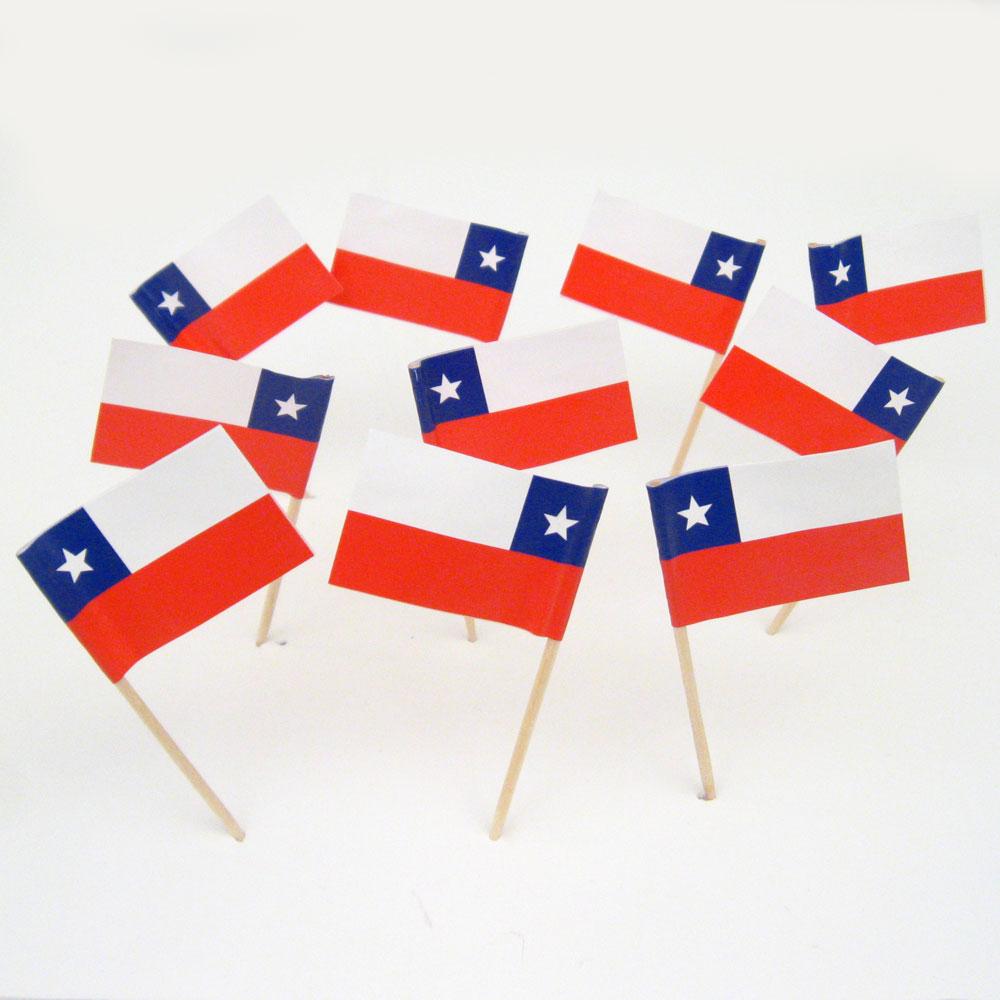 chilean flag toothpicks