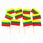 Lithuania | Lithuanian Flag Toothpicks (100)