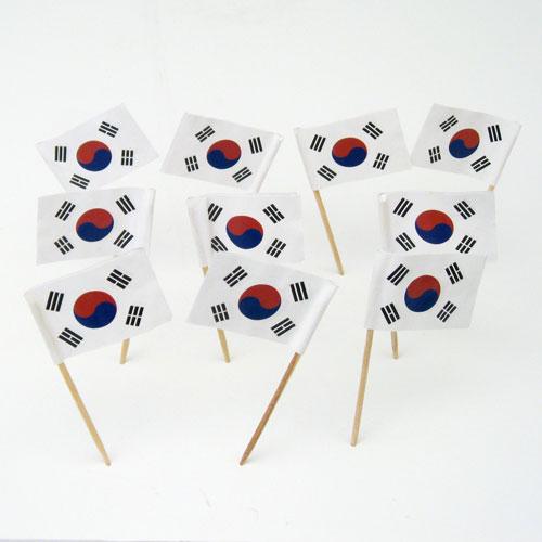 South Korean Flag Toothpicks S Korea Theme Party
