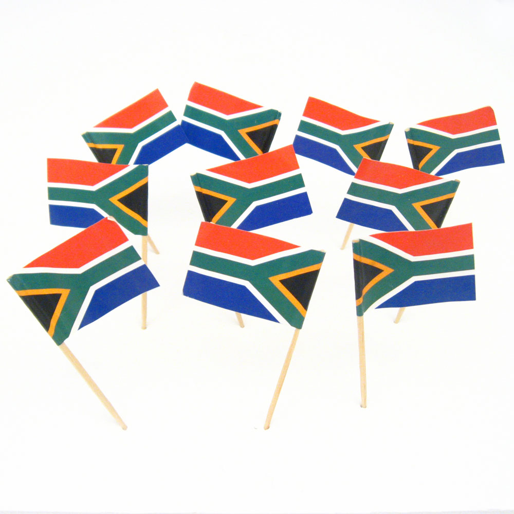 south african flag toothpicks south africa theme party
