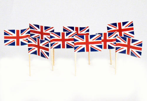 Uk British Flag Toothpicks 100