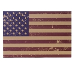 Primitive American Flag Cardboard Placemats (6)