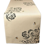Country Chic Honey Bees Embroidered Table Runner