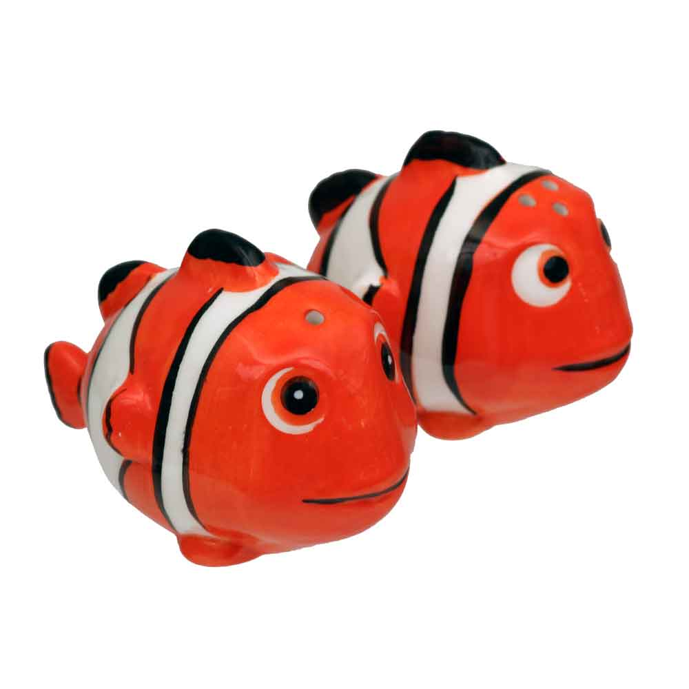 Clown fish salt pepper shakers ocean under the sea for Clown fish price