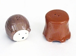 Hedgehog & Tree Stump Salt & Pepper Shakers