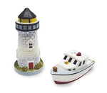 Lighthouse & Boat Salt & Pepper
