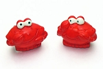 Happy Red Crab Salt & Pepper Shakers