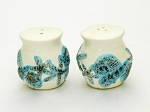 Shell Design Ceramic Salt & Pepper Shakers