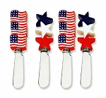 Patriotic Flags & Stars Handle Spreaders (4)