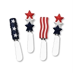Patriotic Stars & Stripes Handle Spreaders (4 assorted)