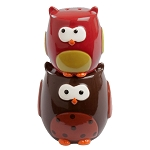 Autumn Owls Stacking Salt & Pepper Shakers