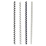 Black & White Geometric Pattern Paper Straws (144)
