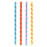 Multi-color Swirl Striped Paper Straws (144)