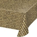 Bamboo Weave Printed Plastic Tablecover