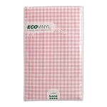 Pastel Pink Gingham Flannel-Back Vinyl Tablecloth - 3 sizes