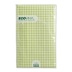 Spring Green Gingham Flannel-Back Vinyl Tablecloth - 3 sizes