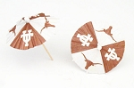 Texas Longhorns Drink Umbrellas/Parasols (24)