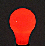 Bulbrite Red Light Bulb - 60W Painted Ceramic