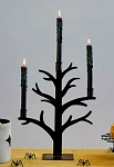 Black Metal Haunted Tree Candelabra