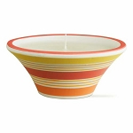 Citronella Candle & Summer Striped Ceramic Pot