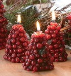 Cranberry Tree Candles (3)