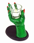 CReePY Ghoulish Green Hand Votive Holder With Light ** DISCONTINUED **