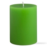 Kiwi Green Decorative Pillar Candle - 2 sizes