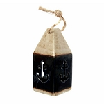 Ceramic Lighted Buoy With Anchor Cutouts