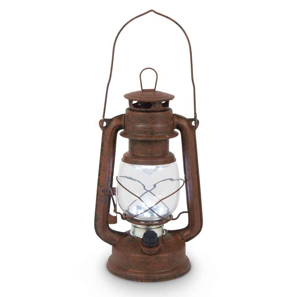 High Intensity LED Vintage-Style Hurricane Lantern