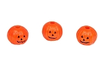 Jack-O-Lantern Pumpkins Mini Taper Candle Holders - Set of 3