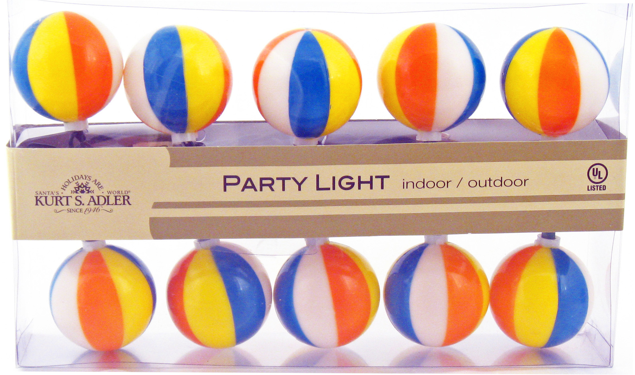 Mini Beach Ball Electric String Lights Theme Party Decorations & Supplies