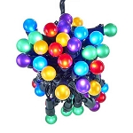 18-Foot Pearlized Multicolored Mini Globe LED String Lights