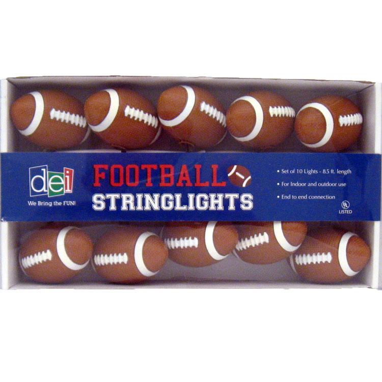 Football String Lights College Game Day NFL Playoffs Super Bowl