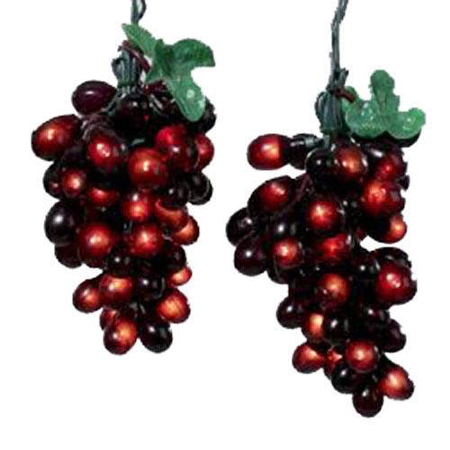 Grape String Party Lights : Elegant Burgundy Grapevine String Lights Grape Cluster Decorations