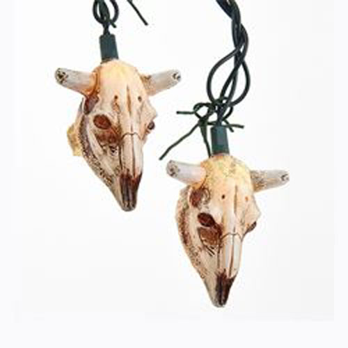 Cow Skull String Lights Steer Country Western Theme Party Decorations & Supplies