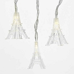 10' White LED Eiffel Tower String Lights - Battery Operated
