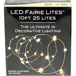 10' White LED Fairy Lights - Battery Operated