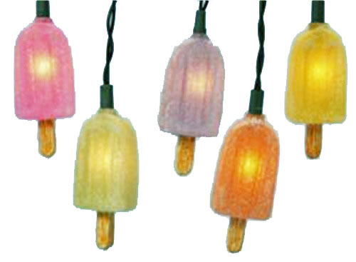 Icy Frost Popsicle Electric String Lights Sweets Desserts Birthday Party Decorations