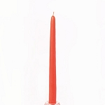 Coral Taper Candle 12