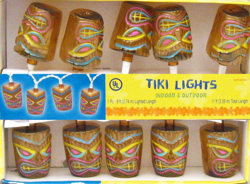 Tiki Electric String Lights Luau Themed Party Planning