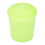 Celery Green Votive Candle - 15 hr, Unscented, Flared
