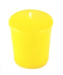 Yellow Votive Candle - 15 hr, Unscented, Flared