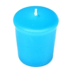 Caribbean Blue Votive Candle - 15 hr, Unscented, Flared